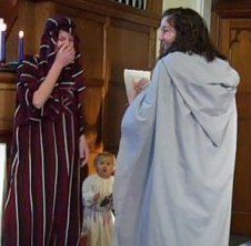 The cast enjoy the funny nativity