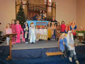 The cast of the church nativity plays